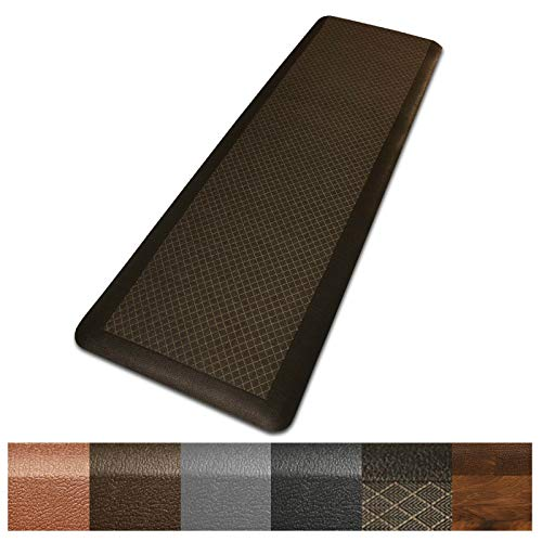 Kitchen Mat | Anti Fatigue Mat, 5/8 Thick | Ergonomically Engineered, Non-Slip, Waterproof | 20'x39' - Dark Brown
