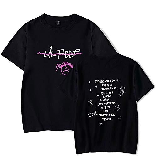Rapper Lil Peep T-Shirt R.I.P. LilPeep Heulsuse Cool Beiläufig Kurzarm T-Shirt für Männer und Frauen Unisex Lil-Peep Liebeshemd