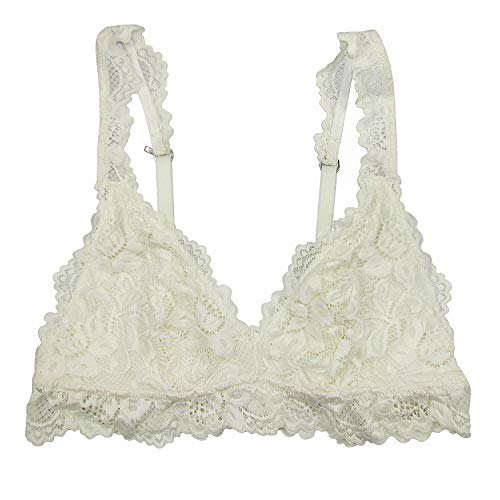 Undie Couture Classic Lace Bralette (Ivory, Small)