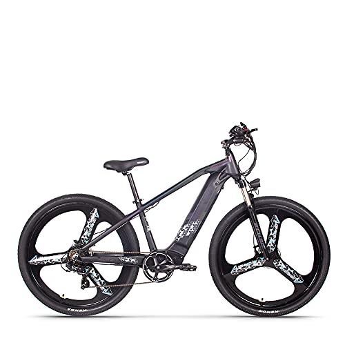 RICH BIT TOP-520 e-bike uomo donna, e-mountain bike con motore da 29 pollici 500W, e-bike con batteria agli ioni di litio 48V * 10AH, bici elettrica a 7 velocità (Pendenza)