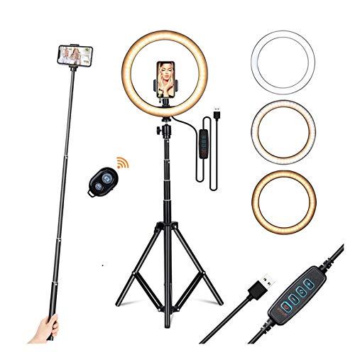 Luz con Soporte de teléfono Soporte trípode para transmisión en Vivo/Maquillaje, Line de la cámara de la cámara LED para la fotografía/Foto Youtube TIK Tok (Color : 1.6m Stand 2)