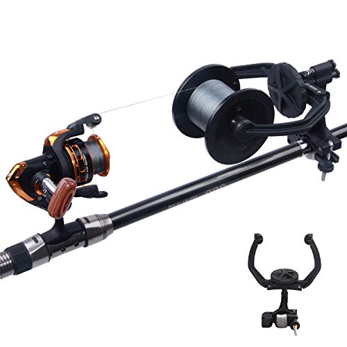 SILANON Fishing Line Spooler - Portable Fishing Reel Line Winder Spooling Station System Baitcaster Line Spooler Machine