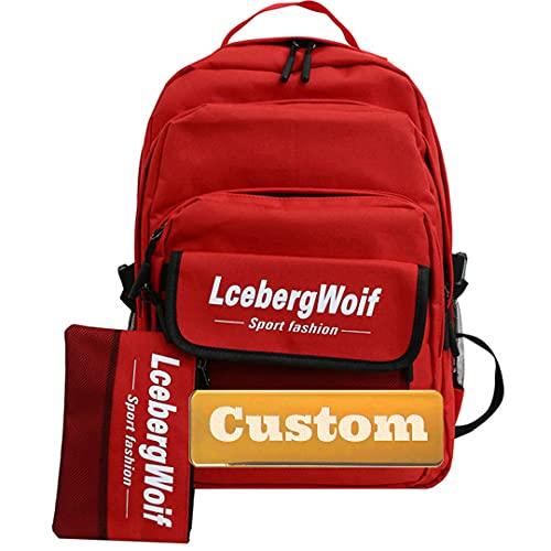 Nome personalizzato Personalizzato Sedia leggera per BACKPAING BABY BLU BLU MINI Zaino Unisex Borsa (Color : Red, Size : One size)