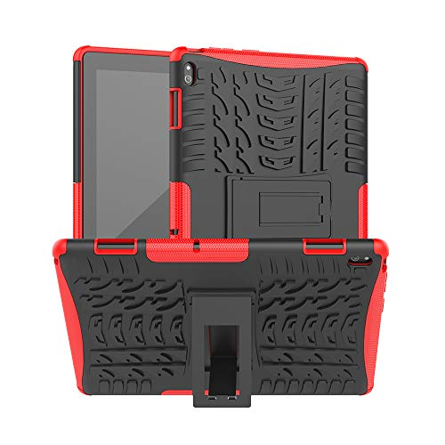 XITODA Case for Lenovo Tab E10, Armor Style Hybrid PC + TPU Protective Case with Stand for Lenovo Tab E10 TB-X104F/L 10.1' Tablet 2018 Cover Protection(Red)