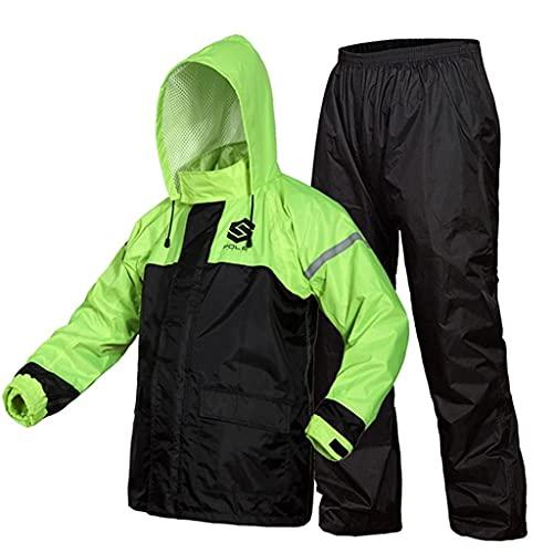 BHBXZZDB Raincoat Rain Suit Waterproof Jackets & Pants for Men Rainwear Lightweight Breathable Rain Coat with Hood for Cycling Fishing Golf Motorcycle(Size:XXLarge)