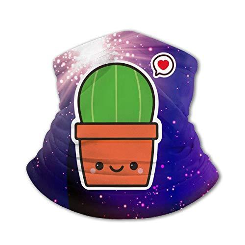 shenguang Niedlicher Kaktus im Topf Kinderhalsgamaschen Gesichtsmaske Sommerkühlrohr Stirnband Bandanas Vollflächiger Schal