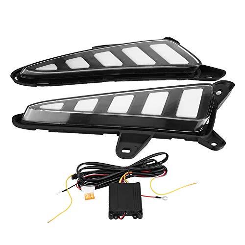 KIMISS 1 par de luces de señal de giro de 2 colores DRL LED, lámpara de circulación diurna del coche para CH-R 16-17