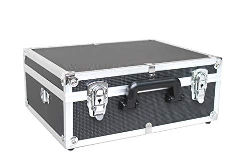 POINSETTIA Alukoffer Werkzeugkiste Werkzeugkoffer Multikoffer Tool Case Leer LxBxH 38x29,5x15 cm Schwarz