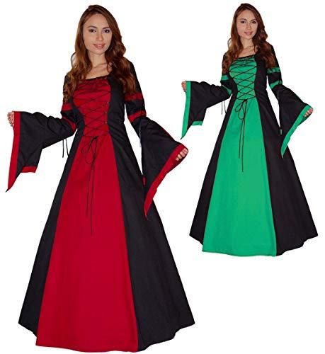 MAYLYNN Mittelalter Kleid Gewand Keyla grün- LARP, Größe:L