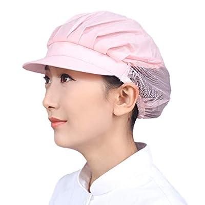 Unisex Mesh Chef Hat Restaurant Kitchen Working Catering Elastic Half Mesh Cap