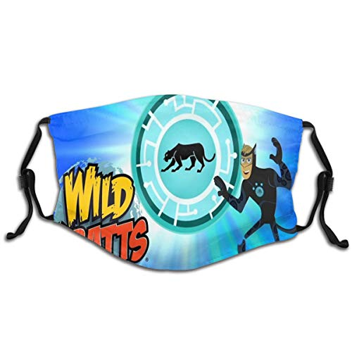 wil-d kra-tt Reusable Cloth Face Cover Washable Anti Dust Mouth Cover For Kids 1 Pcs