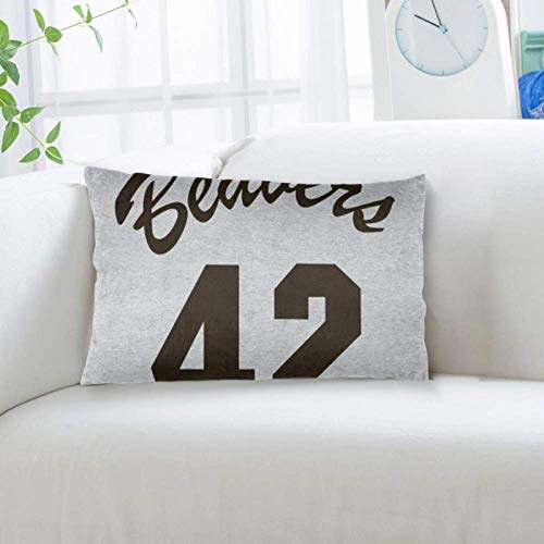 Ouskfh 668 Throw Pillow Case Standard Size 20x36 Inch Pillowcase Teen Wolf Basketball Jerseys Pillow Cover with Hidden Zipper for Home Bed Room Sofa Decorative