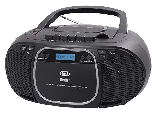 Trevi CMP 576 DAB Stereo Portatile con Ricevitore Digitale DAB / DAB+ / FM con RDS, Mp3, CD, USB, AUX-IN, Display Dot Matrix, Stazioni Memorizzabili, 0CM57600