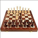 Juego de ajedrez portátil Juego de tableros de juegos de ajedrez con tragamonedas de almacenamiento incluye reinas extra International Chess Set Education Board juego Ajedrez de madera con juego de me