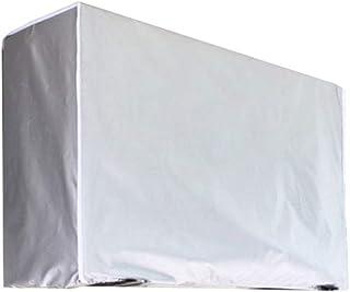 YP Funda para Aire Acondicionado, Exterior Doble Tejido y Protección UV Cubierta Protectora del acondicionador de Aire Exterior a Prueba de Polvo Impermeable, Gris