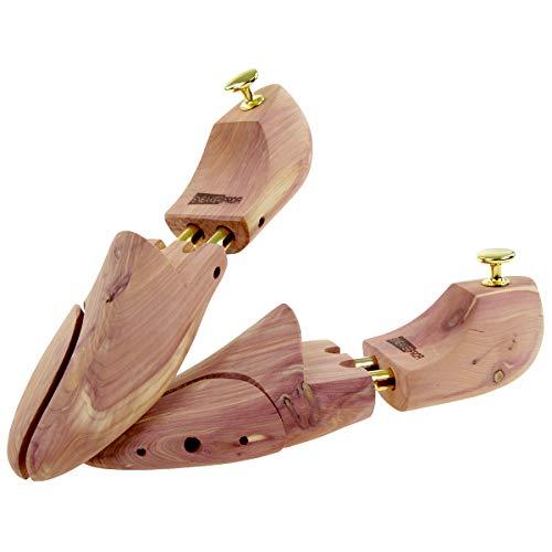 Sneakerprofi Schuhspanner aus Zedernholz Echtholz für Damen und Herren mit Doppelfeder Optimale Passform und Ventilation 1 Paar, Schuhspanner:40/41
