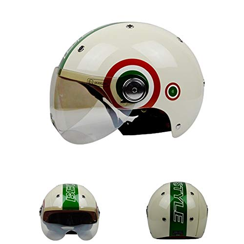Member 3/4 Cafe Racer Jet Crash Casco de Cara Abierta Moto Ciclomotor