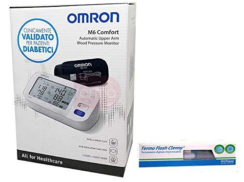 Omron Healthcare M6 AC Blutdruckmessgerät, mit Oberarmmanschette + Geschenk Digitales Thermometer