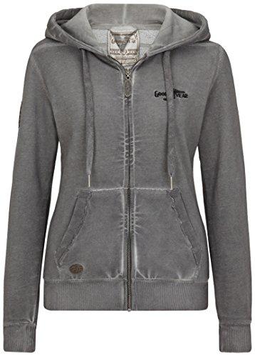Goodyear Fashion Damen Portage Sweatjacke, Dark Grey, L