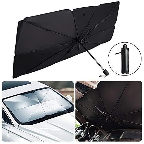 Sombrilla Paraguas del Coche,Parasol Coche Delantero Protector ,Parasol Sombrilla per Coche Lunas Delanteras,Parasol Delantero,Parasol para Parabrisas Protección(125*65cm)