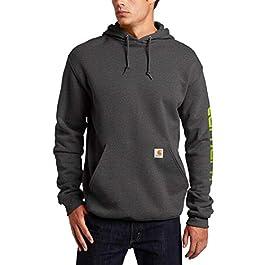 Carhartt Men's Midweight Sleeve Logo Hooded Sweatshirt