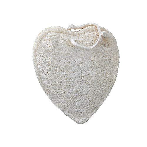 IENPAJNEPQN Éponge Naturelle for éponge Dorsale for Enfants Loofah Tapis de Bain éponge de Douche exfoliante Luffa (Shape : Heart)
