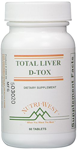 Nutri-West Total Liver D-Tox - 60 Tablets, White