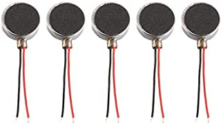 UNIQUE INDIA SALES DealMux 5 PCS DC 1.5V 6000RPM 10mm x 3mm Flat Coin Button-Type Micro DC Vibrating Motor for Cell Phone