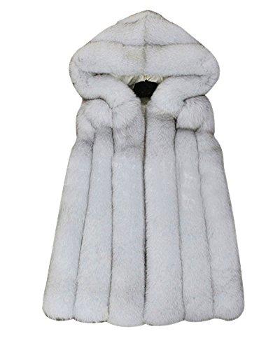FOLOBE Womens Winter Warm Faux Pelz Weste Mantel Jacke