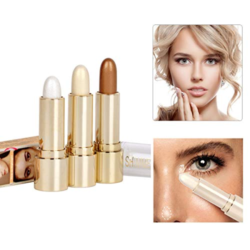 FANCY LOVE 3 couleurs Illuminator Visage Surligneur Makeup Sticks Whitening Cream Shimmer Stick Poudre Stylo à Poudre 0,36 Unités
