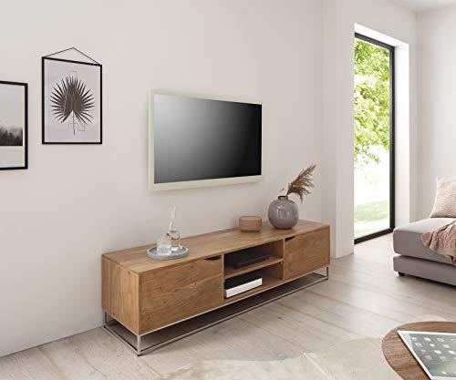 DELIFE TV- Board Loca Akazie Natur 160x40 cm Massiv Lowboard