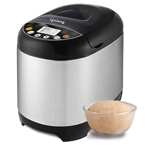 Lifelong Atta and Bread Maker 550 Watt (19 Pre-Set Menu with Adjustable Crust Control)