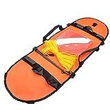 XKJFZ Bandera de Pesca submarina de Buceo Boya Inflable de señal de Alta Visibilidad para el Buceo Pesca submarina Buceo Snorkeling Natación Naranja