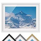 Bild mit Rahmen - Mount Everest - Rahmenfarbe Weiß, 50 x