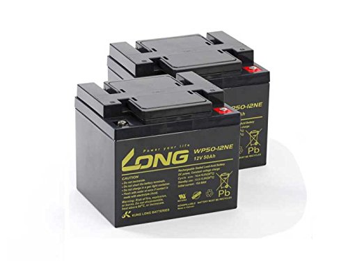 Akku kompatibel Levo LCM 36 amp 24V 2x 12V 50Ah Elektro Rollstuhl AGM Blei Accu