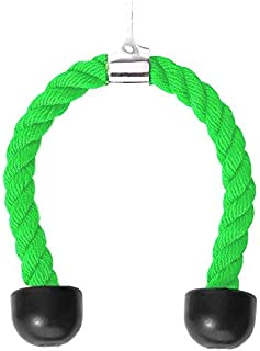 RTG Fitness Lime Green Nylon Tricep Rope Cable Attachment