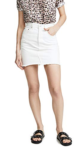 Levi's Premium High-Rise Deconstructed Boyfriend Skirt Pearly White 30