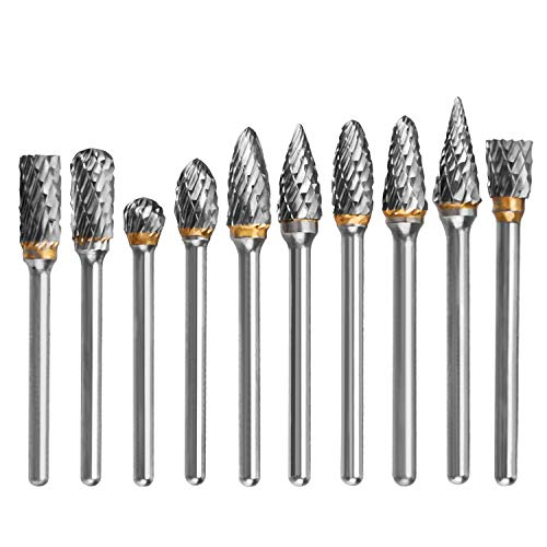 HQMaster Tungsten Carbide Rotary Burr Bits 1/8