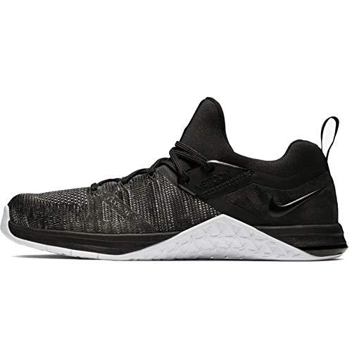 Nike Metcon Flyknit 3, Zapatillas de Triathlon para Hombre, Multicolor (Black/Black/White/Matte Silver 001), 42 2/3 EU