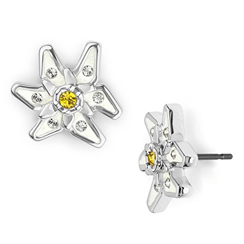 Tirol Edelweiss mini ohrstecker mit Swarovski® Kristallen