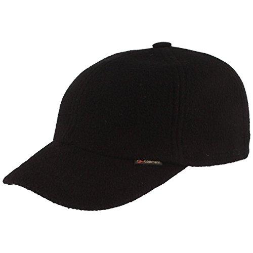 Göttmann Baseball Cap mit Ohrenklappen, schwarz, Größe 59