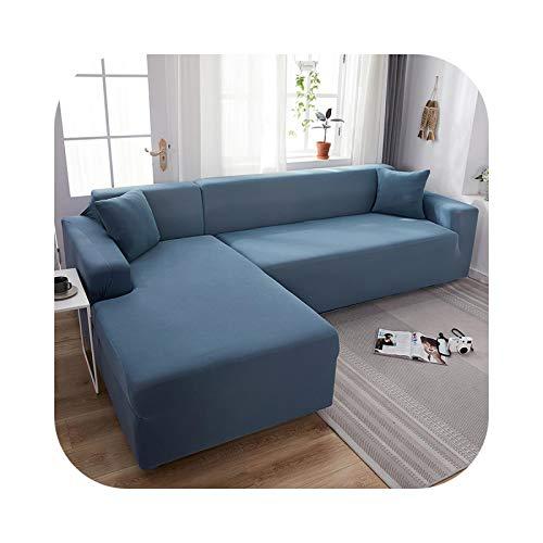 Sofa Covers - Funda de sofá 1/2/3/4 plaza, manta de colores macizos para salón, poliéster con esquinas elásticas, modernas, de 10-1-seat 90 – 140 cm