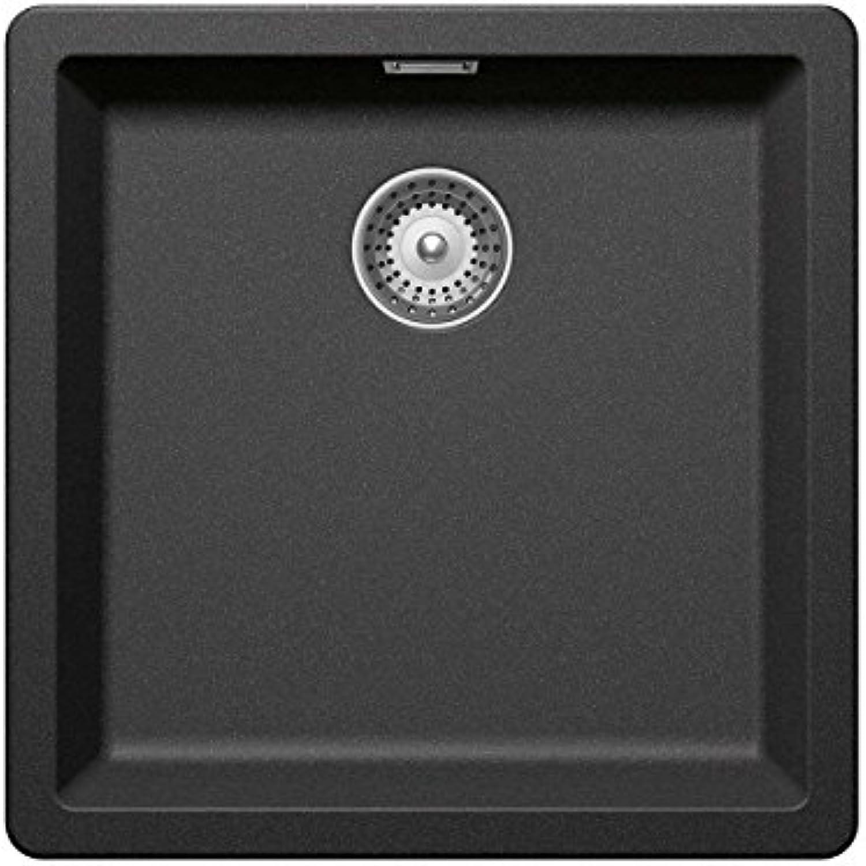 Schock Grünwich N-100 A Stone - GREN100ASTO Granit-Spüle Grau Einbaubecken Küchenspüle Auflage