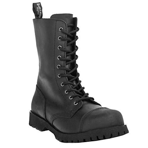 Boots & Braces - 10-Loch Crazy Horse Schwarz Größe 41 (UK7)
