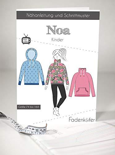 Schnittmuster Fadenkäfer Noa Kinder Gr.74 bis 164 Papierschnittmuster