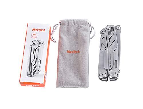 Nextorch 200200 NexTool FLAGSHIP Pro Multitool Messer, Silber