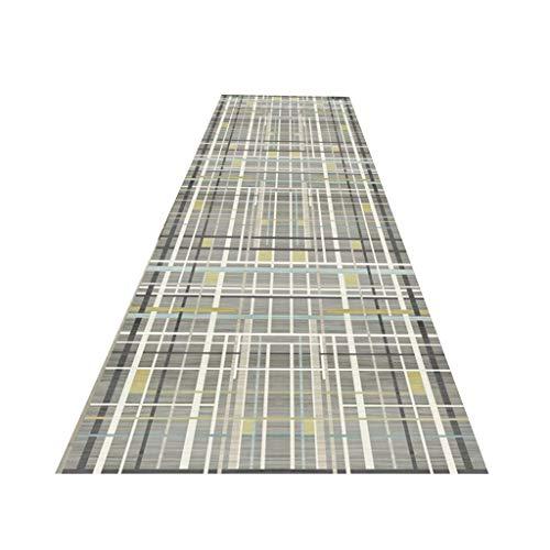 Máquina Lavable Gran Entrada Runner Rubber Mat Backed Pasillo Pasillo Muy Largo Corredor Salón Reduzca La Longitud Alfombras Personalizadas, 2 Colores (Color : B, Size : 1x1m)