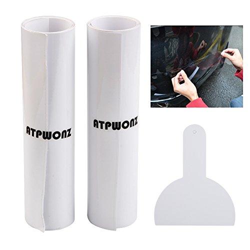 ATPWONZ 2 Rollen Lackschutzfolie transparent, Lack Schutz Folie, Transparent Universal Lackschutzfolie, Schutz vor Steinschlag, Kratzern und Lackschäden 200 x 15 cm
