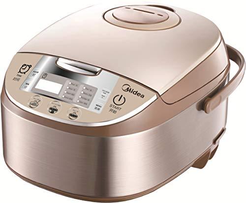 Midea MB-FS5017 Reiskocher mit Dampfgarer & Warmhaltefunktion, Multikocher mit Antihaftbeschichteter Innentopf, Messbecher und 2 Reislöffel, Reis ohne Anbrennen, 875W Schongarer mit 24H Delay Timer