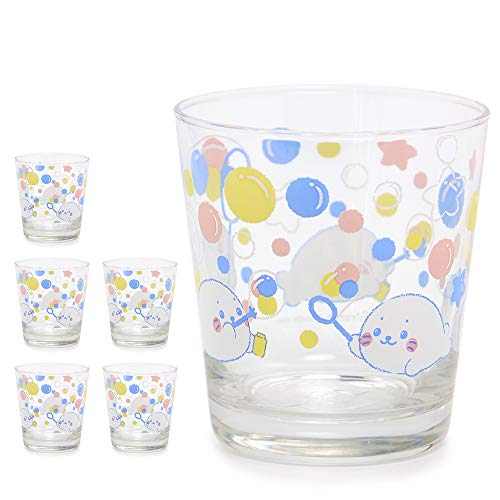 しろたん 《シャボン柄》 グラス 6個セット グラスセット ガラスコップ キッチン用品